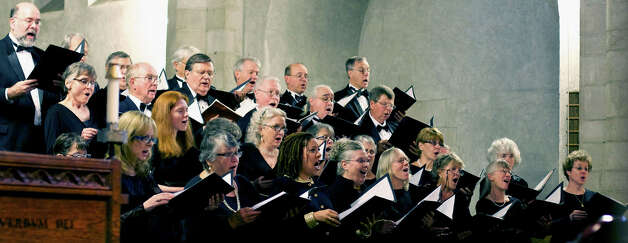 The Kent Singers perform in June 2012 at Kent School to the music of the Sherman Chamber Ensemble, Photo: Trish Haldin