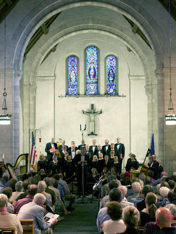 The Kent Singers perform in concert with the Sherman Chamber Ensemble at Kent School in June 2012. Photo: Trish Haldin