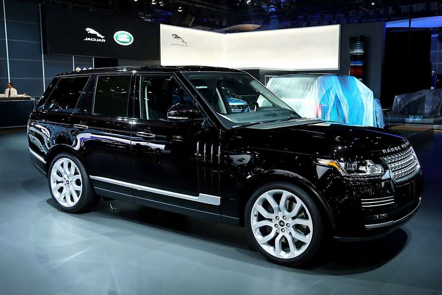 LOS ANGELES, CA - NOVEMBER 28:  The all-new Range Rover on display at the Jaguar Land Rover stand at