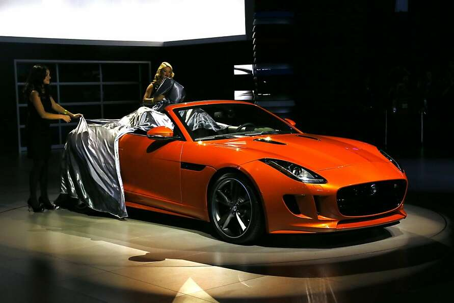 The all-new F-TYPE with special-order Firesand paintwork and equipped with optional 'Design' and bot