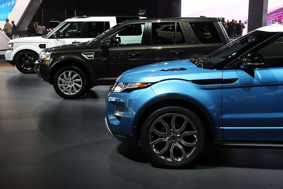 LOS ANGELES, CA - NOVEMBER 28:  Land Rovers model line-up on display at the Jaguar Land Rover stand at the LA Auto Show on November 28, 2012 in Los Angeles, California. Photo: Neilson Barnard, Getty Images For Jaguar Land Rov