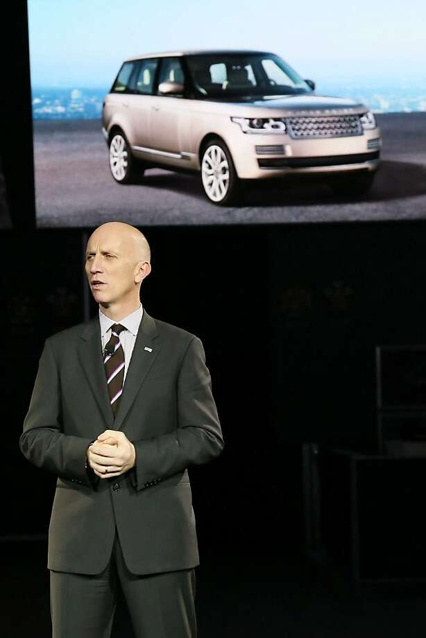 LOS ANGELES, CA - NOVEMBER 28:  John Edwards, Global Brand Director, Land Rover introduces the all-new Range Rover at Jaguar Land Rover's press conference at the LA Auto Show on November 28, 2012 in Los Angeles, California. Photo: Neilson Barnard, Getty Images For Jaguar Land Rov