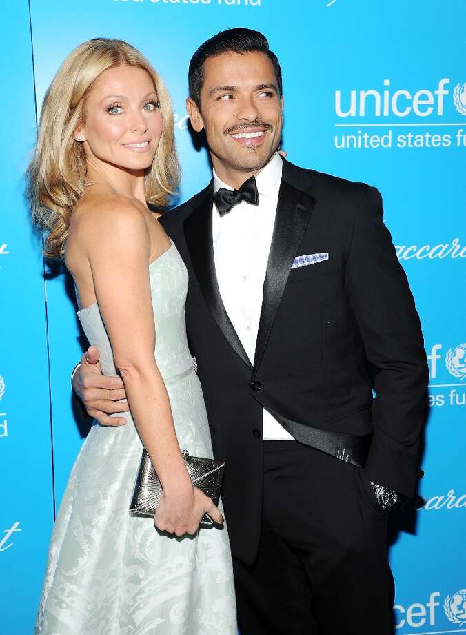 Television personality Kelly Ripa and husband Mark Consuelos attend the 8th Annual UNICEF Snowflake Ball at Cipriani 42nd Street on Tuesday Nov. 27, 2012 in New York. (Photo by Evan Agostini/Invision/AP) Photo: Evan Agostini, Associated Press / Invision