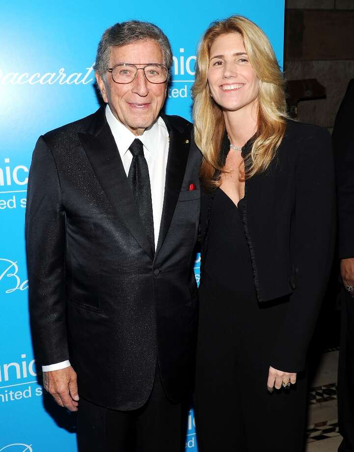 Singer Tony Bennett and wife Susan  attend the 8th Annual UNICEF Snowflake Ball at Cipriani 42nd Street on Tuesday Nov. 27, 2012 in New York. (Photo by Evan Agostini/Invision/AP) Photo: Evan Agostini, Associated Press / Invision