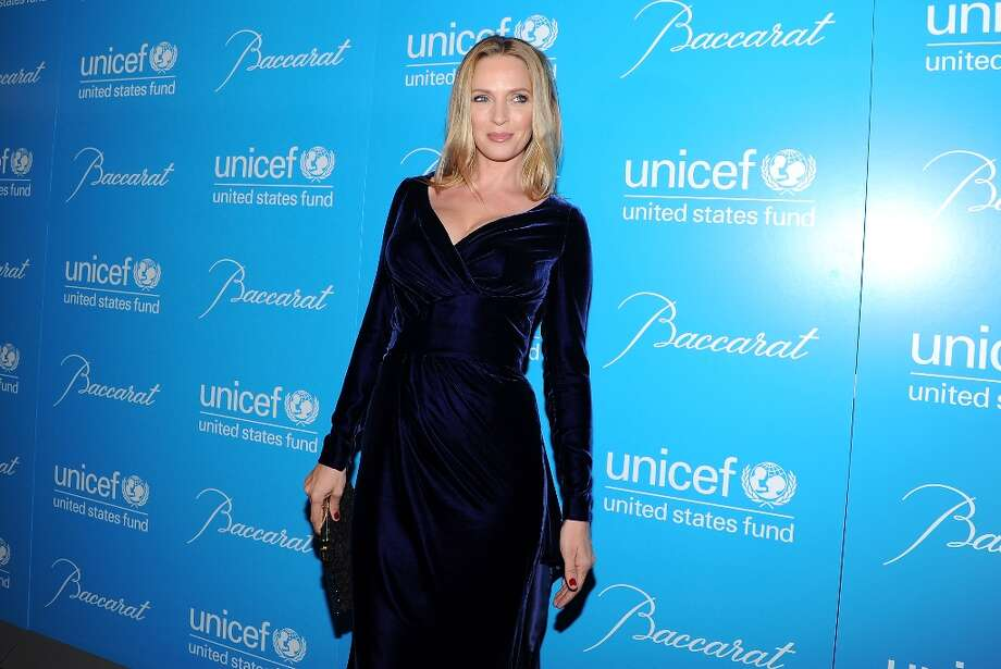 Actress Uma Thurman attends the 8th Annual UNICEF Snowflake Ball at Cipriani 42nd Street on Tuesday Nov. 27, 2012 in New York. (Photo by Evan Agostini/Invision/AP) Photo: Evan Agostini, Associated Press / Invision