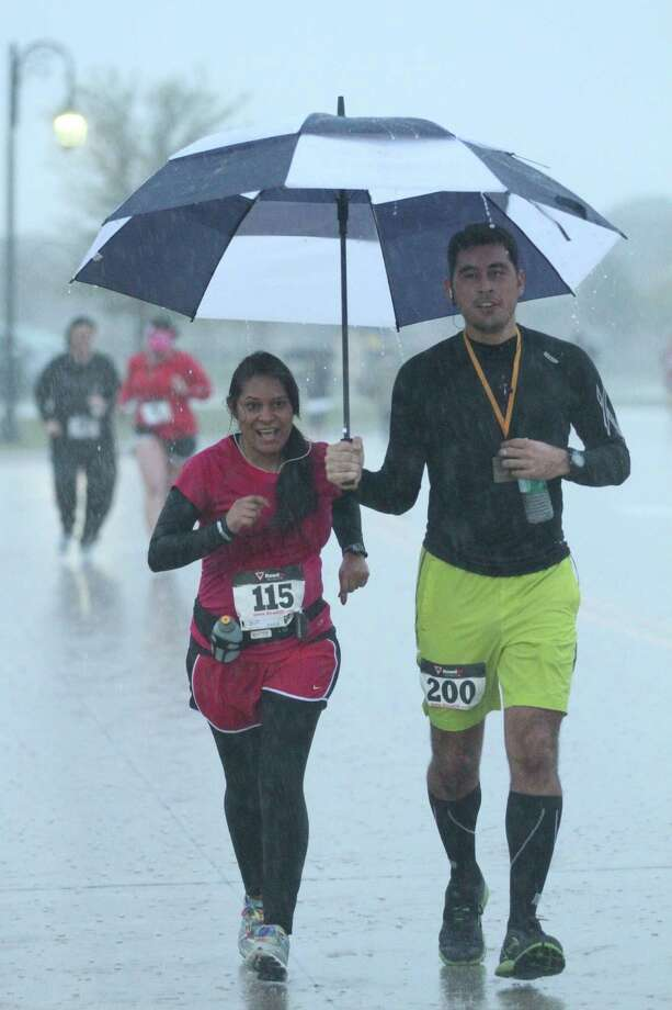 The public is invited for two events this weekend in Bridgeland, a chili cook-off Saturday, and the Mistletoe Fun Run Sunday. Chili tastings begin at noon Saturday, and race day registration is available for Sunday?s event. Pictured are racers from a Run Over Cancer event held in Bridgeland this spring.