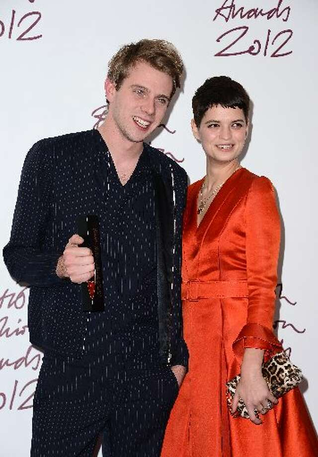 Jonathan Anderson (L) of JW Anderson, winner of the Emerging Talent award, Ready-To-Wear, poses with presenter Pixie Geldof at the British Fashion Awards 2012 at The Savoy Hotel on November 27, 2012 in London, England. (Photo by Ian Gavan/Getty Images) (Getty)