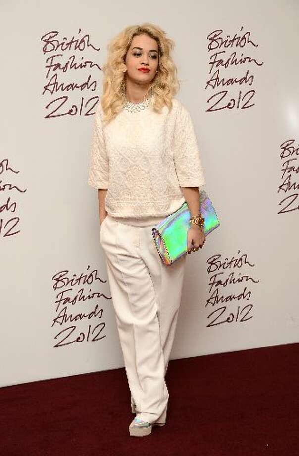 Rita Ora poses in the awards room at the British Fashion Awards 2012 at The Savoy Hotel on November 27, 2012 in London, England. (Photo by Ian Gavan/Getty Images) (Getty)