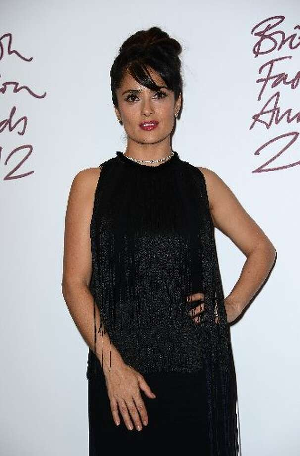 Salma Hayek poses in the awards room at the British Fashion Awards 2012 at The Savoy Hotel on November 27, 2012 in London, England. (Photo by Ian Gavan/Getty Images) (Getty)