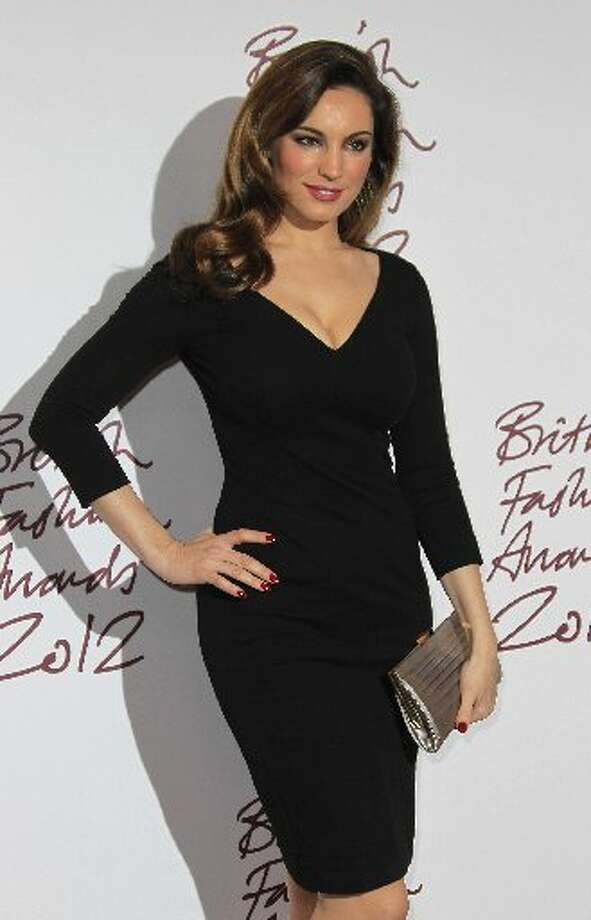 Kelly Brook arrives for the British Fashion Awards at the Savoy Hotel in central London, Tuesday Nov. 27, 2012. (Photo by Joel Ryan/Invision/AP) (AP)
