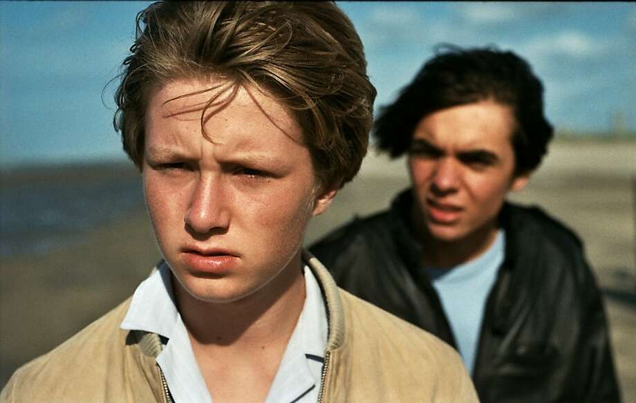 "Jelle Florizoone (left) and Mathias Vergels star in the Dutch coming-of-age film ""North Sea Texas,"" opening Friday in the Bay Area. Photo: Strand Releasing"