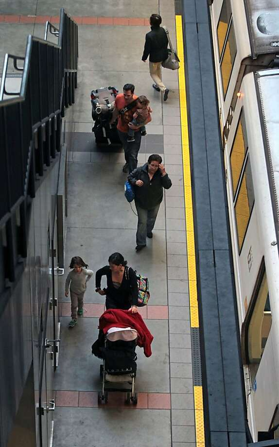 The South San Francisco BART Station's non-functioning elevator frustrates patrons. Photo: Lance Iversen, The Chronicle
