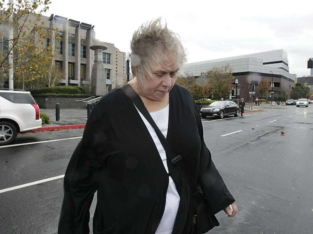 Kinde Durkee leaves the federal courthouse in Sacramento, where she was sentenced to 8 years in prison for mail fraud.