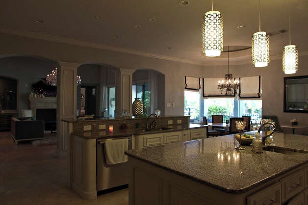 The kitchen in the home of Reema and Naveen Kella in San Antonio on Wednesday, Nov. 28, 2012. Photo: Lisa Krantz, San Antonio Express-News / © 2012 San Antonio Express-News