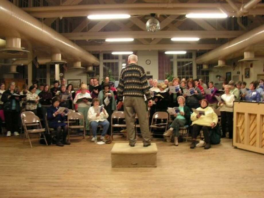 Members of the Mohawk Valley Chorus rehearse. (www.facebook.com/MohawkValleyChorus)