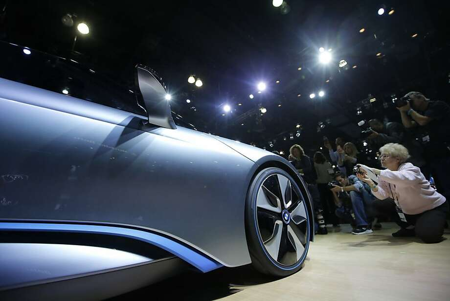 The BMW i8 Concept is shown at the LA Auto Show in Los Angeles, Wednesday, Nov. 28, 2012. (AP Photo/Jae C. Hong) Photo: Jae C. Hong, Associated Press