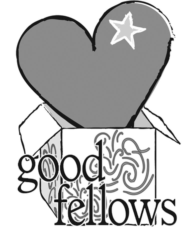 Goodfellows heart and package logo BW, no words