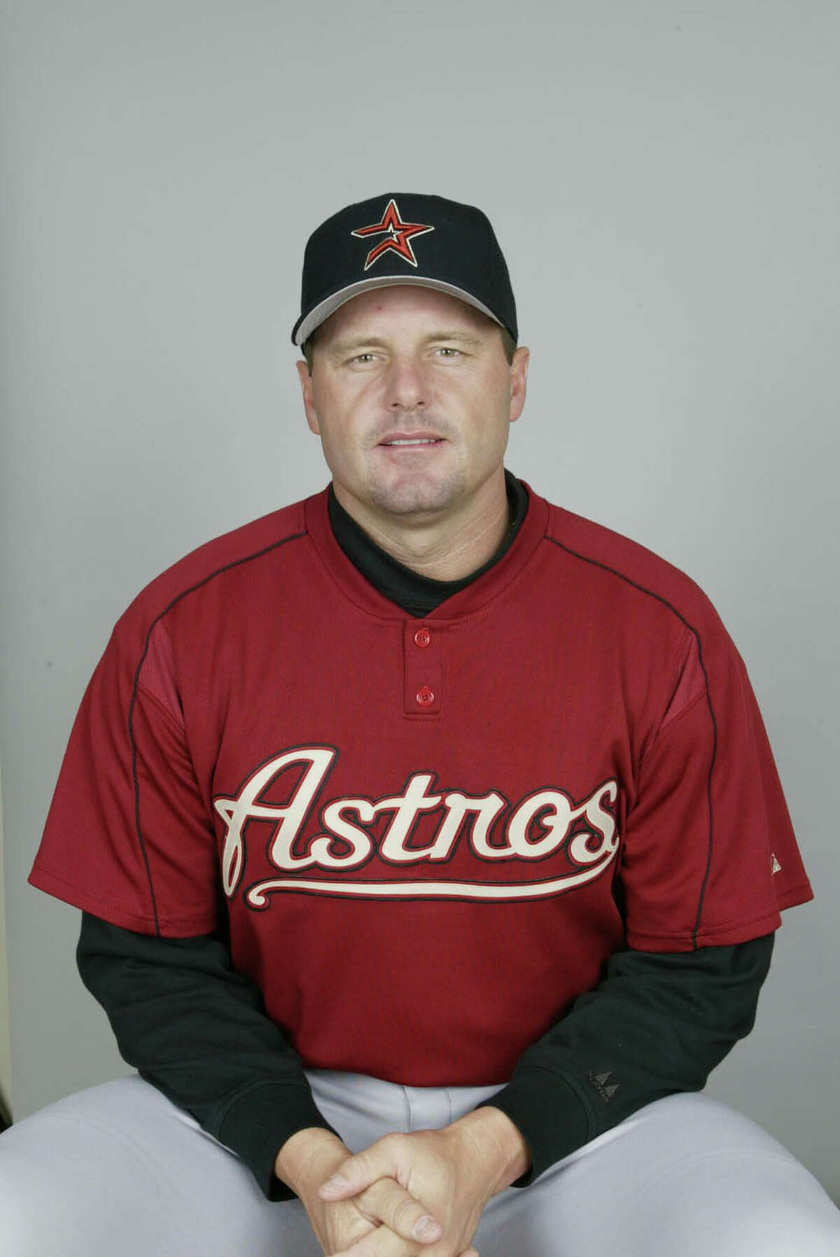 KISSIMMEE, FL - FEBRUARY 26: Roger Clemens of the Houston Astros on February 26, 2004 in Kissimmee, Florida. (Photo by MLB Photos)