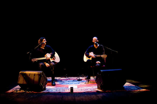 The guitar Duo Isra-Alien plays at the Black Box Theatre in the Quick Center on February 13, 2011.  Pictured here is Oren Neiman and Gilad Ben-Zvi. Photo: Contributed Photo
