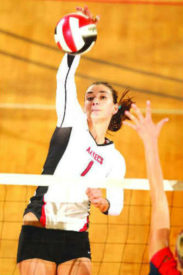 Andrea Hannasch of San Diego State earned All-Mountain West Conference honors. Courtesy photo / San Diego State Athletics