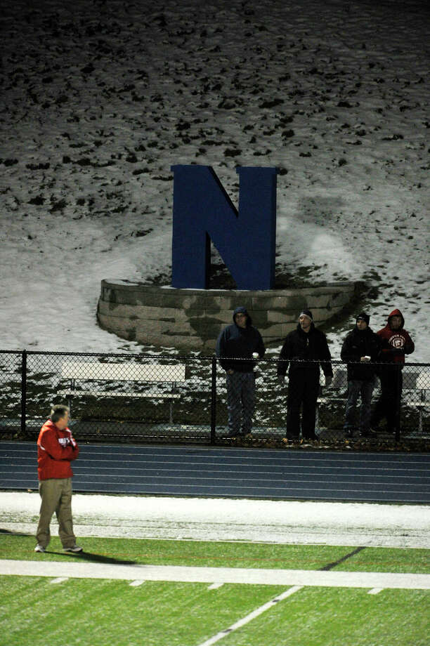 Scenes from the Norwich Free Academy at Newtown Class LL state quarterfinal game on Wednesday, Nov. 28, 2012. Photo: Jason Rearick / The News-Times
