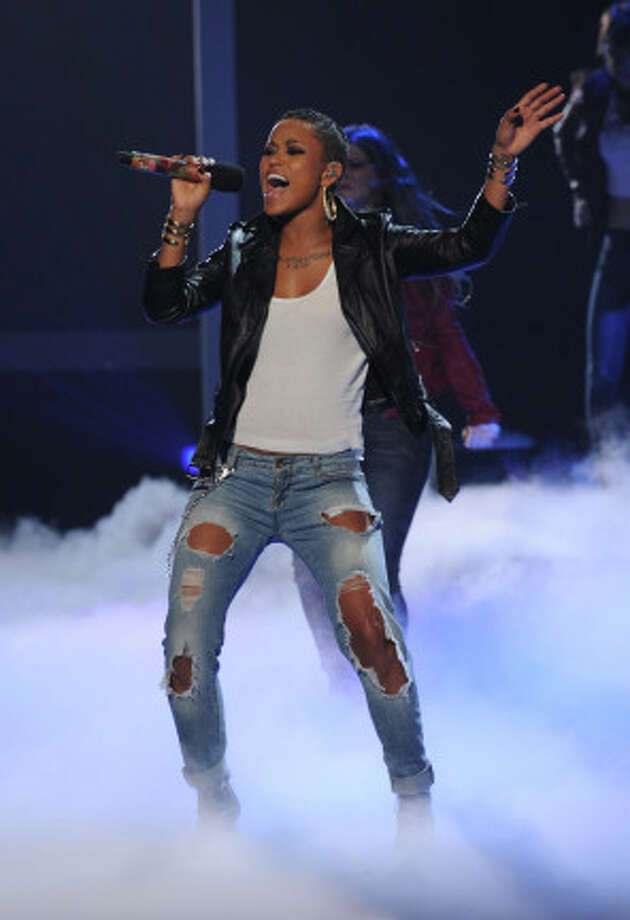 THE X FACTOR: TOP 8: Paige Thomas performs live on THE X FACTOR, Wednesday, November 28 (8:00-9:00 PM ET/PT) on FOX. CR: Ray Mickshaw / FOX.