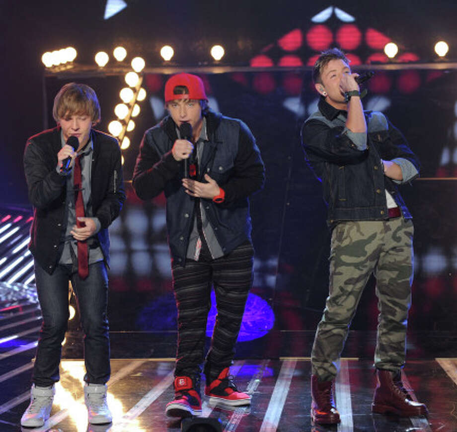 THE X FACTOR: TOP 8: Emblem3 performs live on THE X FACTOR, Wednesday, November 28 (8:00-9:00 PM ET/PT) on FOX. CR: Ray Mickshaw / FOX.