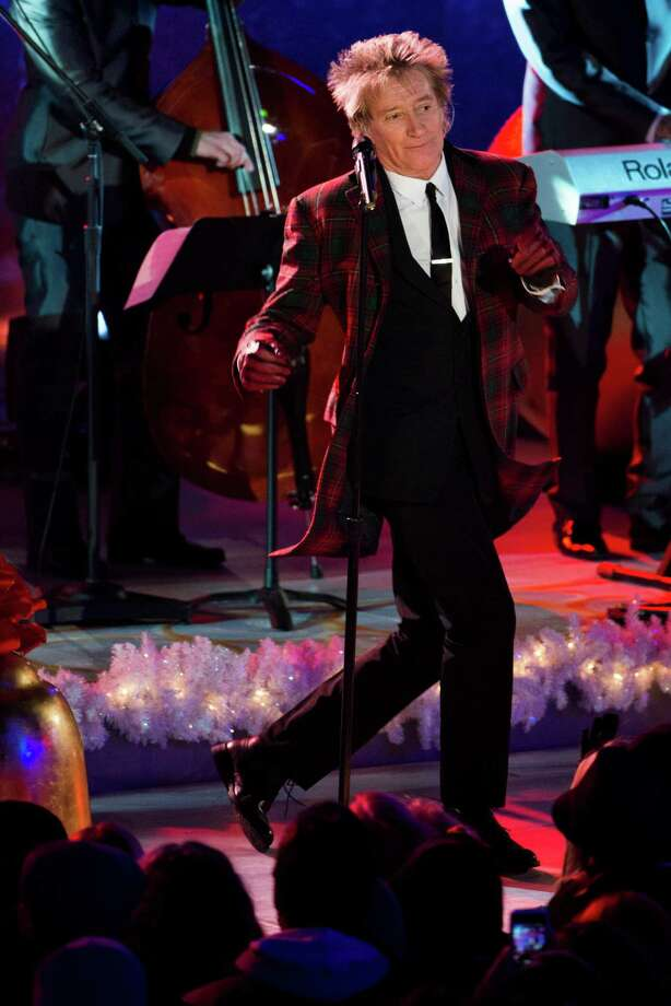 Rod Stewart performs at the 80th annual Rockefeller Center Christmas tree lighting ceremony on Wednesday, Nov. 28, 2012 in New York. (Photo by Charles Sykes/Invision/AP) Photo: Charles Sykes, Associated Press / Associated Press