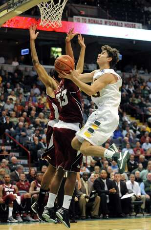 Siena's Rob Poole goes to the basket during their game against the University of Massachusetts at the Times Union Center in Albany, NY Wednesday Nov. 28, 2012. (Michael P. Farrell/Times Union) Photo: Michael P. Farrell