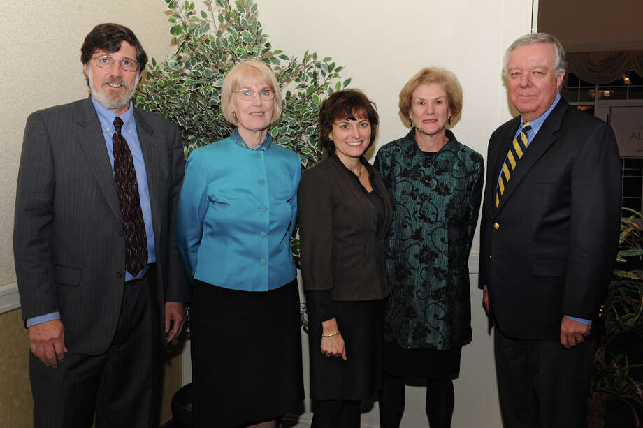 From left, Consulting Alliance panel members  Allan Krieger, Nancy Schultz, Robin Weintraub, Ruth Walters and Peter Coombs at a 20th anniversary gathering at the Italian American Community Center Tuesday Nov. 28, 2012 in Albany, N.Y.  (Lori Van Buren / Times Union) Photo: Lori Van Buren