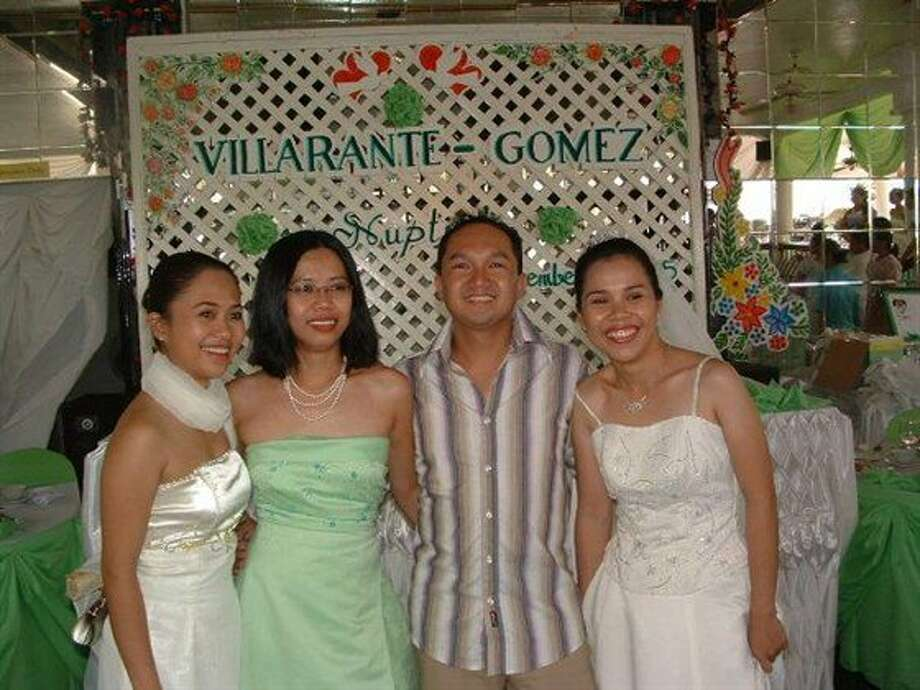 Now: Here are the four cousins at the wedding of Annie (far right) in September 2005. All 4 are in the same position as the first picture. Picture again taken in The Philippines. Approximately 25 years between pics. (justanotherdude)