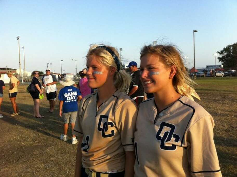 In 2011, Brittany Stone and Courtney Tietze were on the O'Connor High School softball team that went to the state finals. Brittany's mom, Laura, wore the Then photo, made into a button, throughout the girls' playing careers, snapping the Now picture in a moment of serendipity when they were seniors. Today, Courtney attends Blinn College while Brittany plays ball for Our Lady of the Lake University. (Stone / MySanAntonio.com)
