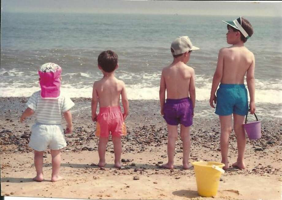 This photo is of our 4 sons--Cris, Brandon, Matthew and Cameron Fischer taken on the East coast of England in 1992 while stationed there with the Air Force.  (James Fischer / MySanAntonio.com)