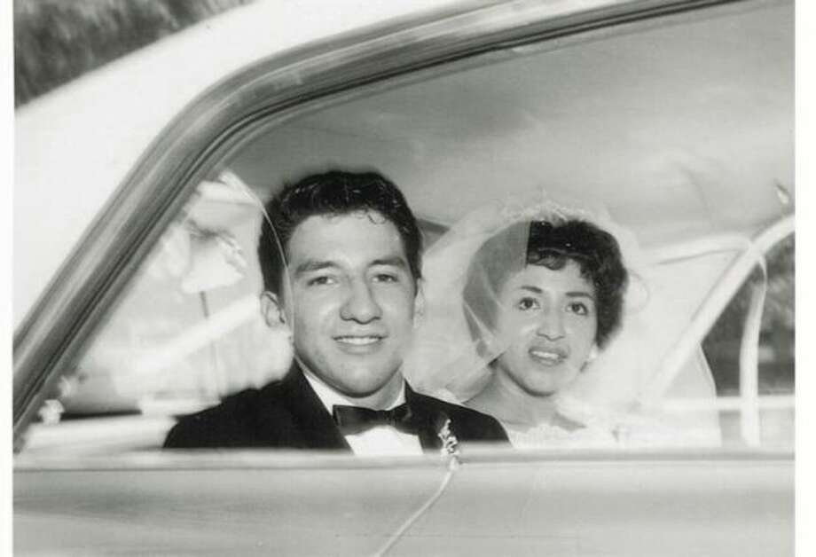 In August of 1962, Rudy C. Medrano married Florence Guerra. Edgewood High School sweethearts, their wedding was held on a summer day with temperatures reaching 105 degrees. Their all-day celebration began at 10 a.m. and included an afternoon reception where chicken mole was served. He was 20, she was 19. Too young to drink legally, they toasted their nuptials with 7UP. (Andrew Medrano / MySanAntonio.com)