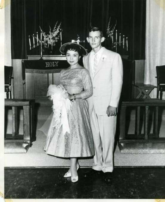 On Sept 1st, 1957 Bill Umphlett and Barbara Oliva were married in Chapel #3 at 4 p.m. at Lackland AFB. He was a basic training instructor and Barbara was working at Southwestern Bell Telephone Co. They went to North Carolina for their honeymoon and to meet Bill's family members.  (Bill Umphlett / MySanAntonio.com)