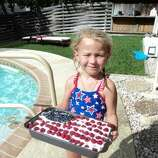 Brianna Bocquin, granddaughter of Karen Bocquin, celebrates the Fourth of July in 2012. (Karen Bocquin / MySanAntonio.com)