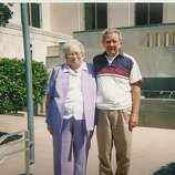 In 1951 Bobby Jones and Margaret Stark drove to Seguin to get married and had their picture taken on the steps of the Courthouse. Being back in San Antonio after retiring from the military and traveling all over, they decided to celebrate their 60th anniversary by going back over to Seguin and doing it over again. However, the Justice was not there so they had their picture taken again on the same steps. (Bobby Jones / MySanAntonio.com)