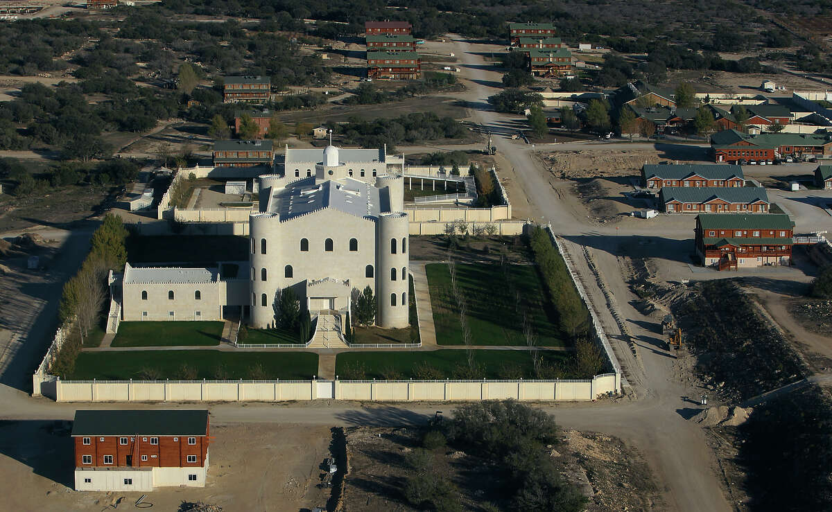 Aerial view of the church and surrounding lodging at the Yearning for Zion ranch in Eldorado, Texas on Wednesday, Nov. 28, 2012. The Texas attorney general's office filed documents to seize the ranch on Wednesday. The property belonged to Warren Jeffs who served as the spiritual leader and prophet of the Fundamentalist Church of Latter Day Saints. Jeffs was convicted on two child sex charges and sentenced to life plus 20 years in prison.
