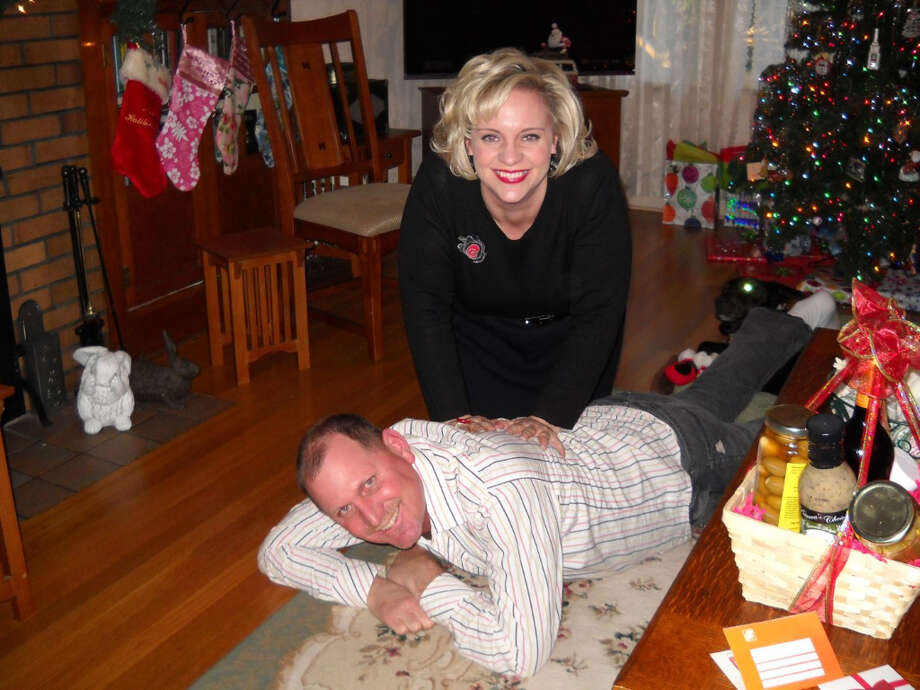 Now: Mark and Erika (brother and sister) Christmas, 2011