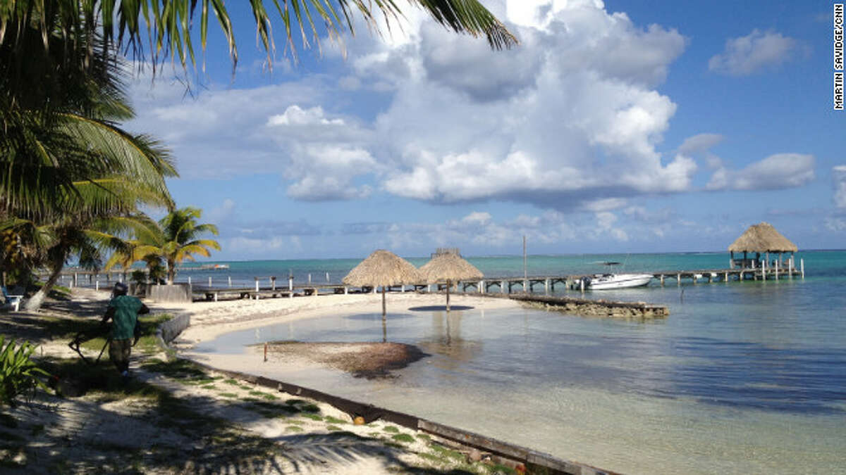 A deceptively tranquil view in front of John McAfee's former compound in Belize. Photo: Martin Savidge/CNN via McAfee Security UK.org.