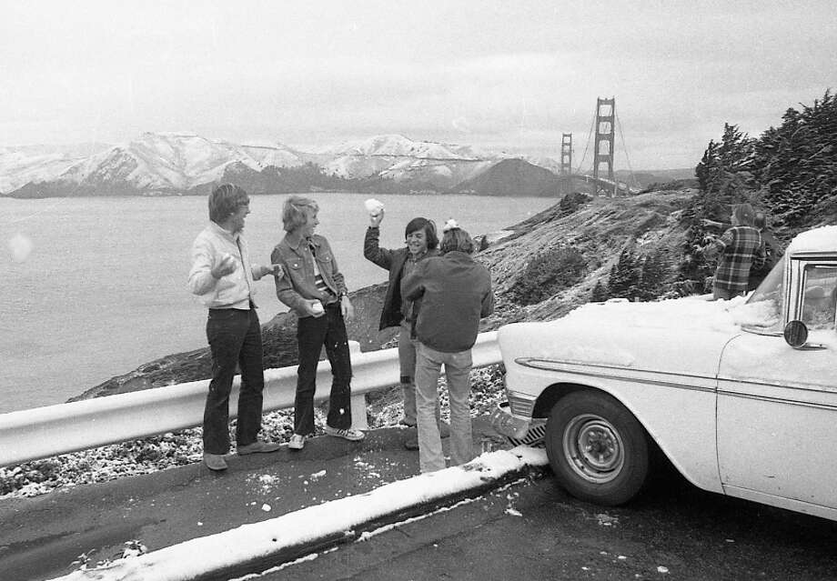 Our friends again near Lands End. I'm trying to guess what was playing on the radio on the way over. I'll go with Black Mountain by the Doobie Brothers, Listen to What the Man Said by Wings or Side 3 of Physical Graffiti by Led Zeppelin. Photo: Clem Albers, The Chronicle / ONLINE_YES