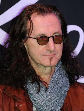 Geddy Lee attends the RockWalk induction of Rush at Guitar Center on Tuesday, Nov. 20, 2012, in Los Angeles. (Photo by Richard Shotwell/Invision/AP) Photo: Richard Shotwell, Associated Press / Invision