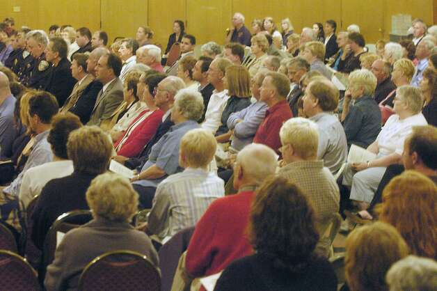Times Union Photo by James Goolsby     Oct. 5, 2005-A large crowd attends the memorial service for the victims of the Ethan Allen, at the Sacred Heart Church in Lake George N.Y. Photo: JAMES GOOLSBY, DG / ALBANY TIMES UNION