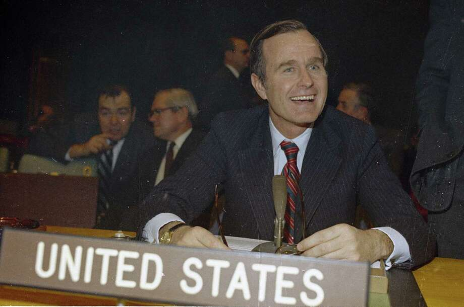 George Bush, U.S. Ambassador to the United Nations is shown at U.N. headquarters in New York in 1971. (AP Photo) Photo: Anonymous, ASSOCIATED PRESS / AP