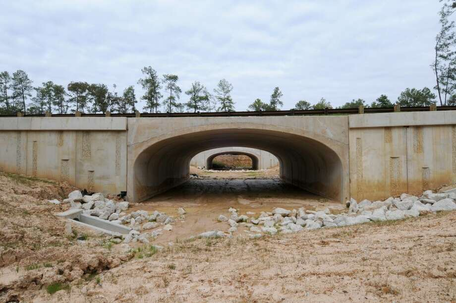 A view of a pedestrian underpass under construction on Springwoods Village Parkway that will allow pedestrians the ability to walk or bike across the community and away from traffic. (CDC Houston)