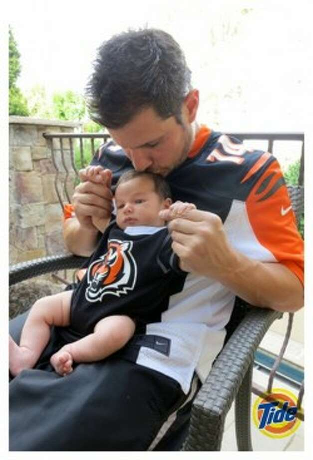 CAMDEN JOHNThe son of Nick Lachey and singer Vanessa Minnillo was born Sept. 12. Hopefully he'll have put getting kicked out of a football game behind him before his son is old enough to comprehend what is going on around him.
