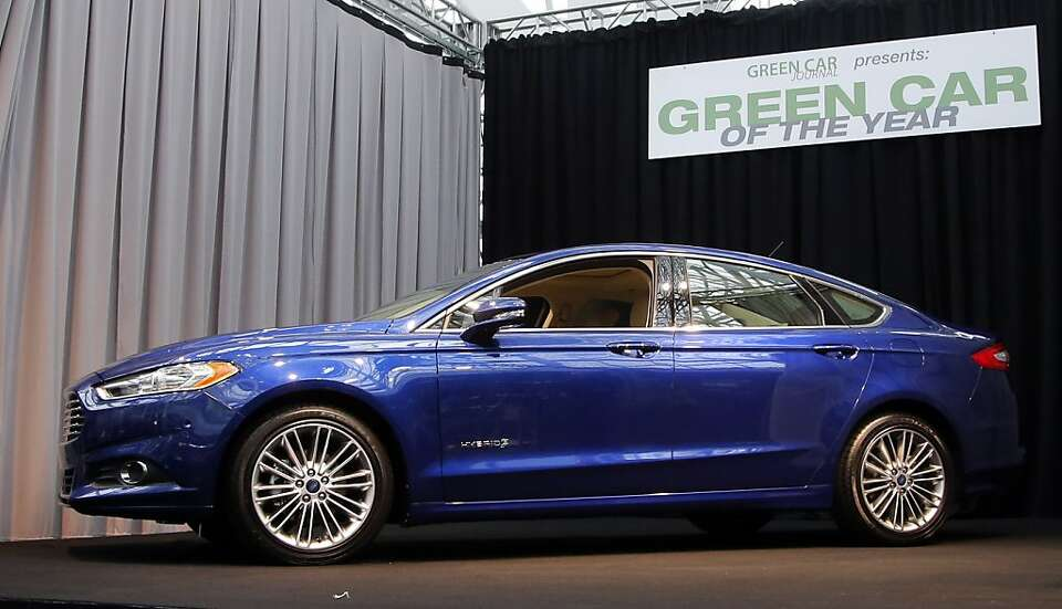 The Ford Fusion wins the Green Car of The Year award at the LA Auto Show in Los Angeles, Thursday, N