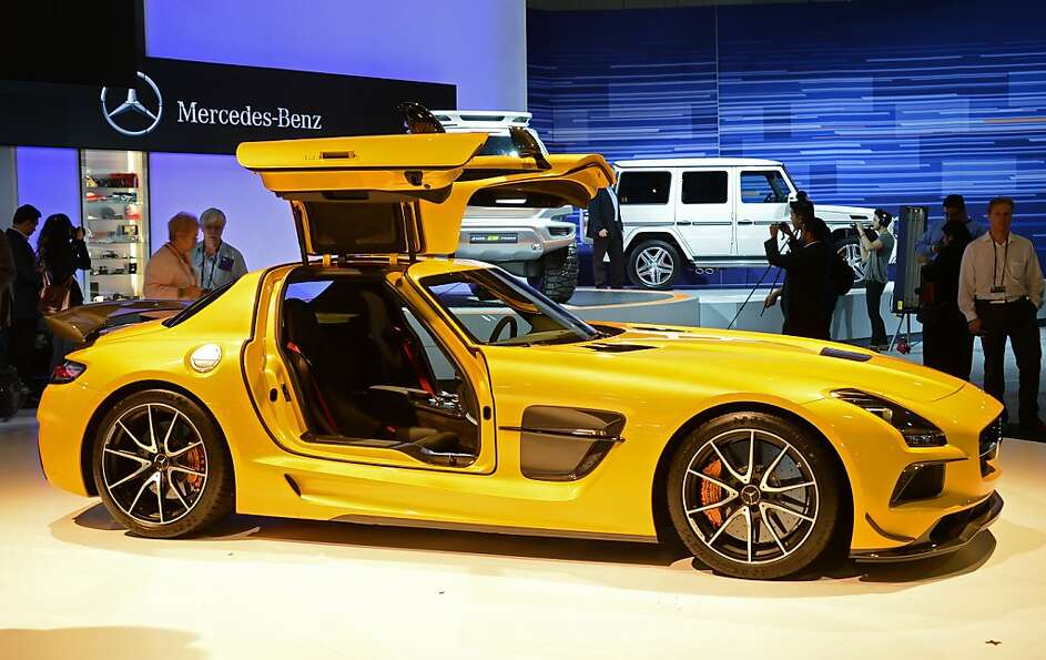 The Mercedes-Benz SLS AMG GT is unveiled at the Los Angeles Auto show  in Los Angeles, California on