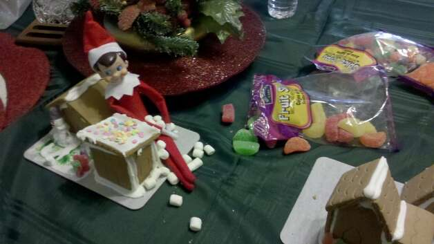 Pablo makes a gingerbread house. (Photo submitted by BPD Officer Carol Riley.)