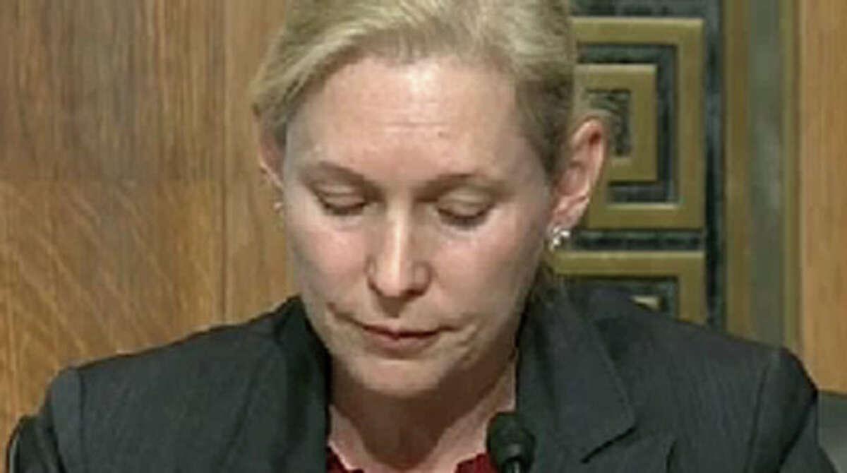 Sen. Kirsten Gillibrand speaks during a Senate committee hearing on the impact of Hurricane Sandy, Nov. 29, 2012. (C-SPAN)